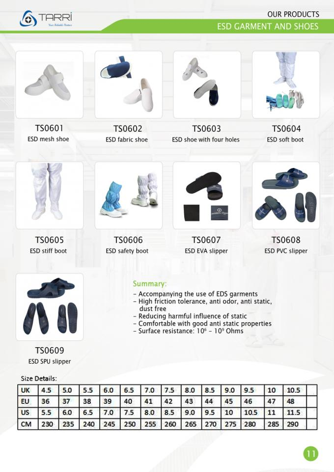 Fabric ESD Shoes Anti Static Safety Boots 10^6 - 10^9 Surface Resistivity