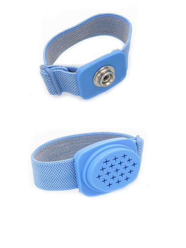 Wireless Anti Static Wrist Strap ESD Grounding Blue Conductive Elastic Fabric