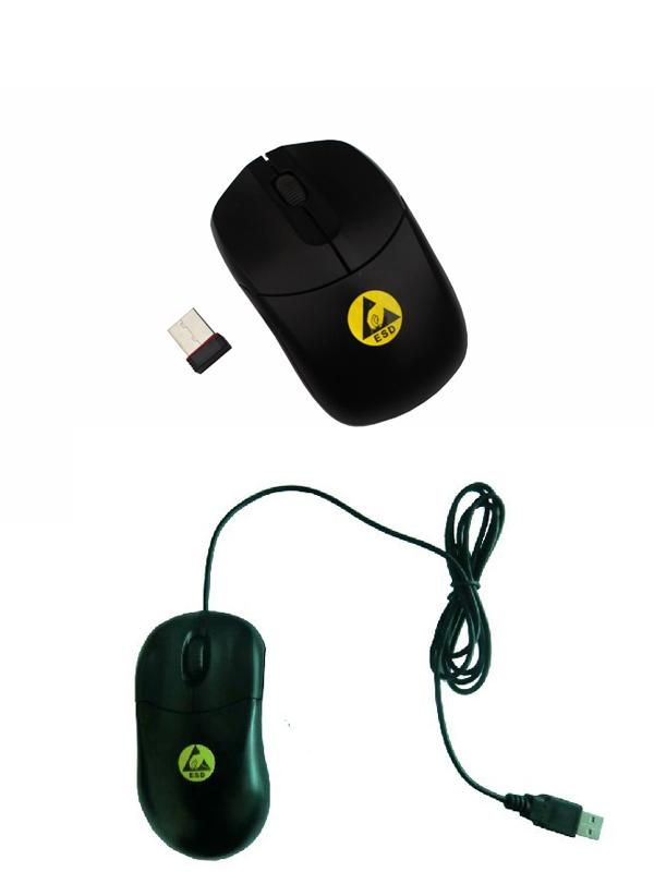 Dissipative Plastic ESD Office Supplies , Anti Static ESD Mouse wireless With USB Connector