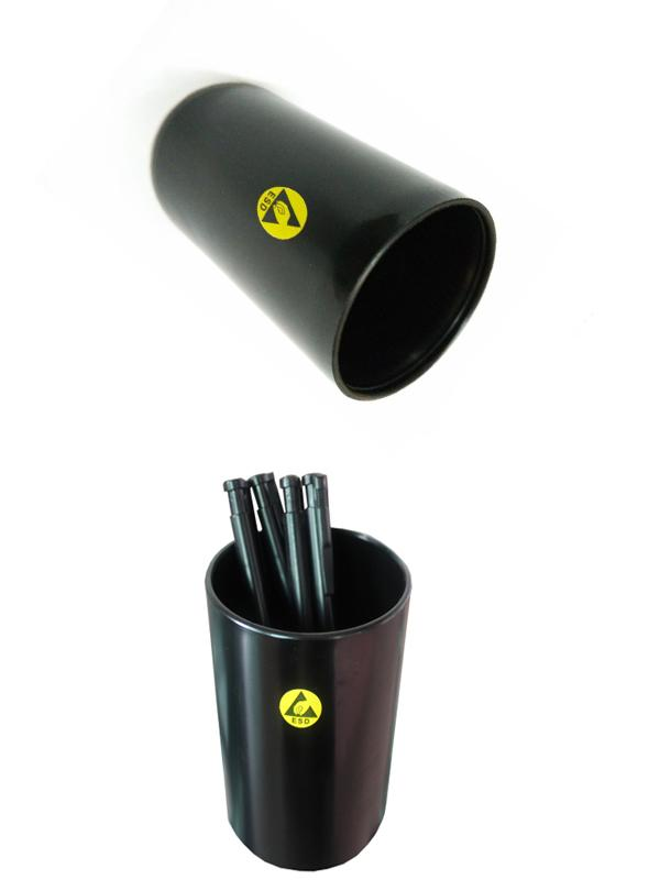 Black ESD Office Supplies Anti Static Pen Container Brush Pot For Holding Pen
