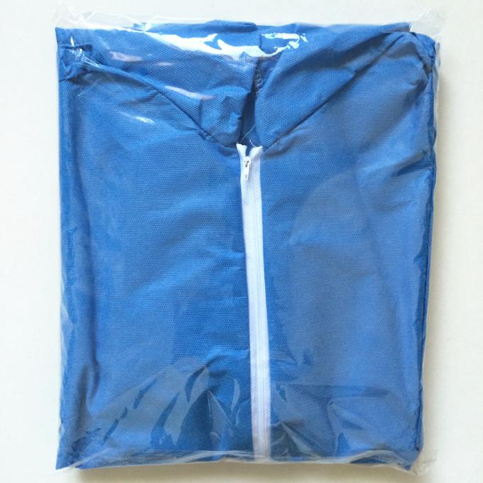 Disposable Clean Room Products Unisex Nonwoven Coverall Disposable Clothing Blue White Green