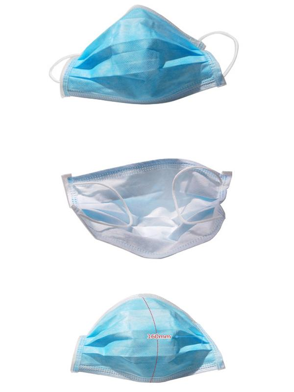 3 Layers Disposable non woven face mask , Clean Room Nonwoven Mouth Cap