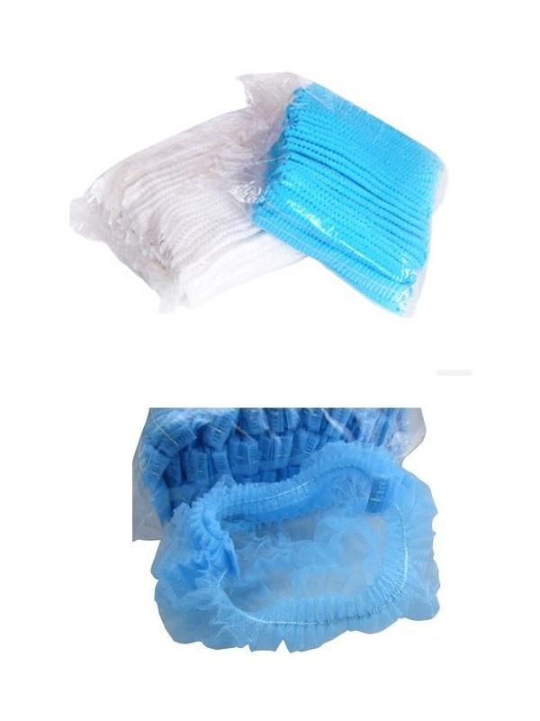 """Non Woven Clean Room Products Disposable Surgical Bouffant Cap 21"""" 24"""" For Medical"""