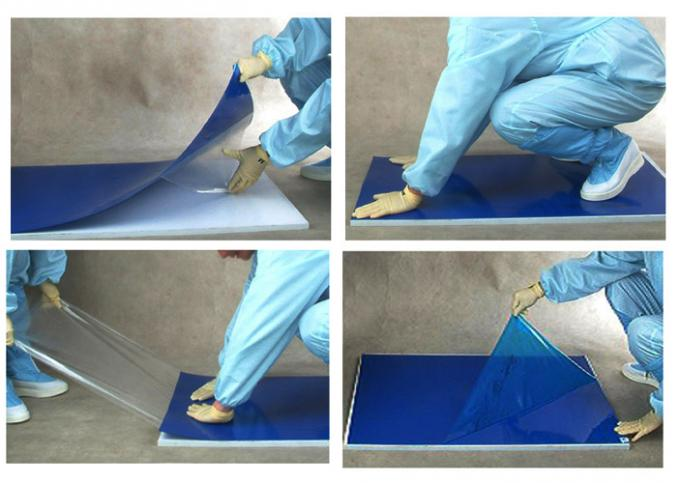 Blue Green White Clean Room Sticky Mat , Clean Room Tacky Mat For Removing Dust