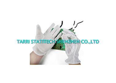 China Non Slip Anti Static Gloves ESD Dotted Glove Lightweight 10mm Strip Line supplier