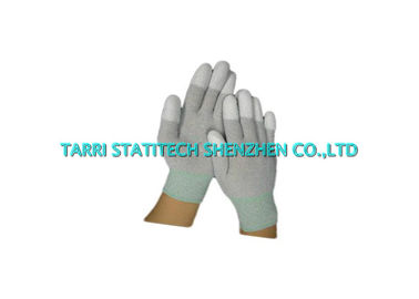 China ESD PU Fitness Fingertip Anti Static Gloves Carbon Filament Finger Protectors supplier