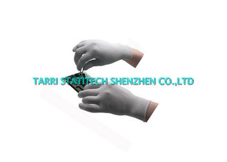 China Putf Carbon Anti Static Gloves , Palm Fit ESD PU Coated Gloves For Palm Protection supplier