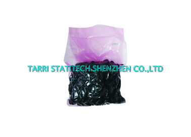 China Black Anti Static ESD Conductive Finger Cots , Latex Finger Protectors 70mm Length supplier