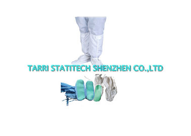 China Dustless Non Slip ESD Shoes Anti Static Work Boots PVC Dots Coated supplier