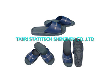 China Black Blue ESD Shoes Anti Static Footwear Clean Room PVC Slippers Unisex Boots supplier