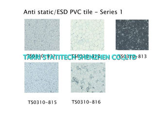 China Static Dissipative Tile , Anti Static ESD PVC Floor Tile For Switchroom supplier