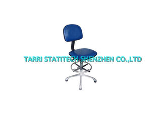 China Anti Static Workshop PU Leather Chair Blue 480mm 640mm 10^5 - 10^9 supplier