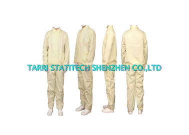 China Lightweight ESD Clothing Anti Static Jackets , Suit Collar Jackets 10^6 - 10^9 Surface resistivity distributor