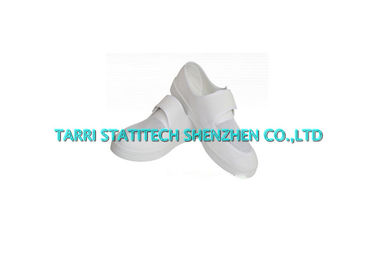 Cleanroom ESD Shoes Soft PU / PVC Sole Mesh Boots With Vecro Sticky