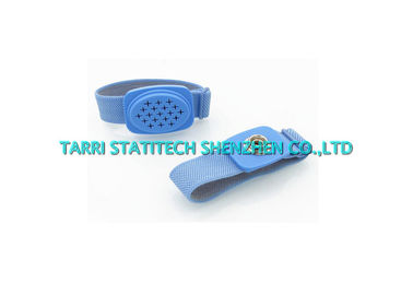 China Wireless Anti Static Wrist Strap , Blue ESD Wrist Band Conductive Elastic Fabric distributor