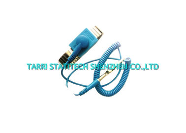 China Metal ESD Grounding Antistatic Wrist Strap Stainless Steel Bands With Coiled Wire distributor