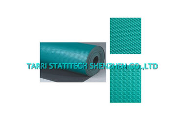China ROHS Anti Static Mat Non Slip Ribbed Surface Rubber Floor Tiles For Chemical Industry distributor