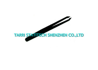 China 93307 Black Conductive Anti Static Tweezers Short Pointed Tip 115mm distributor