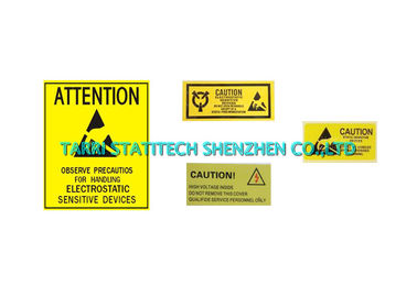 China Anti Static Tape Caution ESD Warning Labels PVC Film 6KV Voltage Resistance distributor