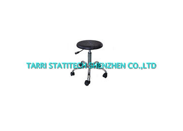 China PU Foam Clean Room ESD Lab Chairs Black Round Cushion 480mm Foot diameter distributor