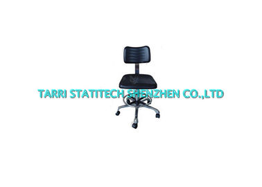 China Black Anti Static ESD Office Chair PU Foam Footring Lightweight Chemical plant distributor