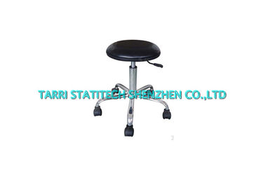 China Lab Adjustable ESD Chairs PU Leather Office Chair Ergonomic Stool 60mm Cushion thickness distributor