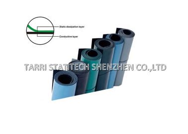 China 2 Layers Anti Static Mat ESD Rubber Matting , ESD Bench Mat Smooth Finish distributor